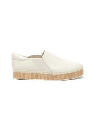 Main View - Click To Enlarge - VINCE - 'Wilden' leather platform espadrille slip-ons