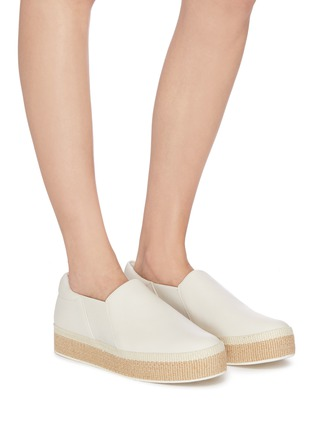 Figure View - Click To Enlarge - VINCE - 'Wilden' leather platform espadrille slip-ons