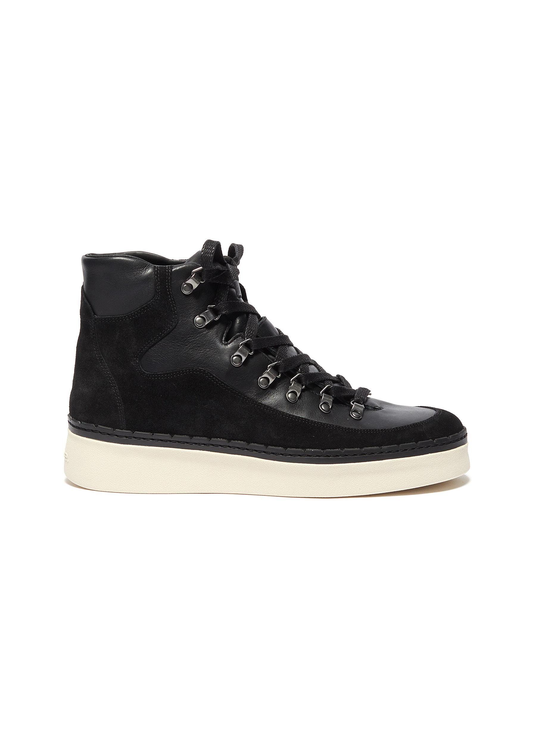 Vince Boots Soren Lace Up Suede Leather Ankle Boots