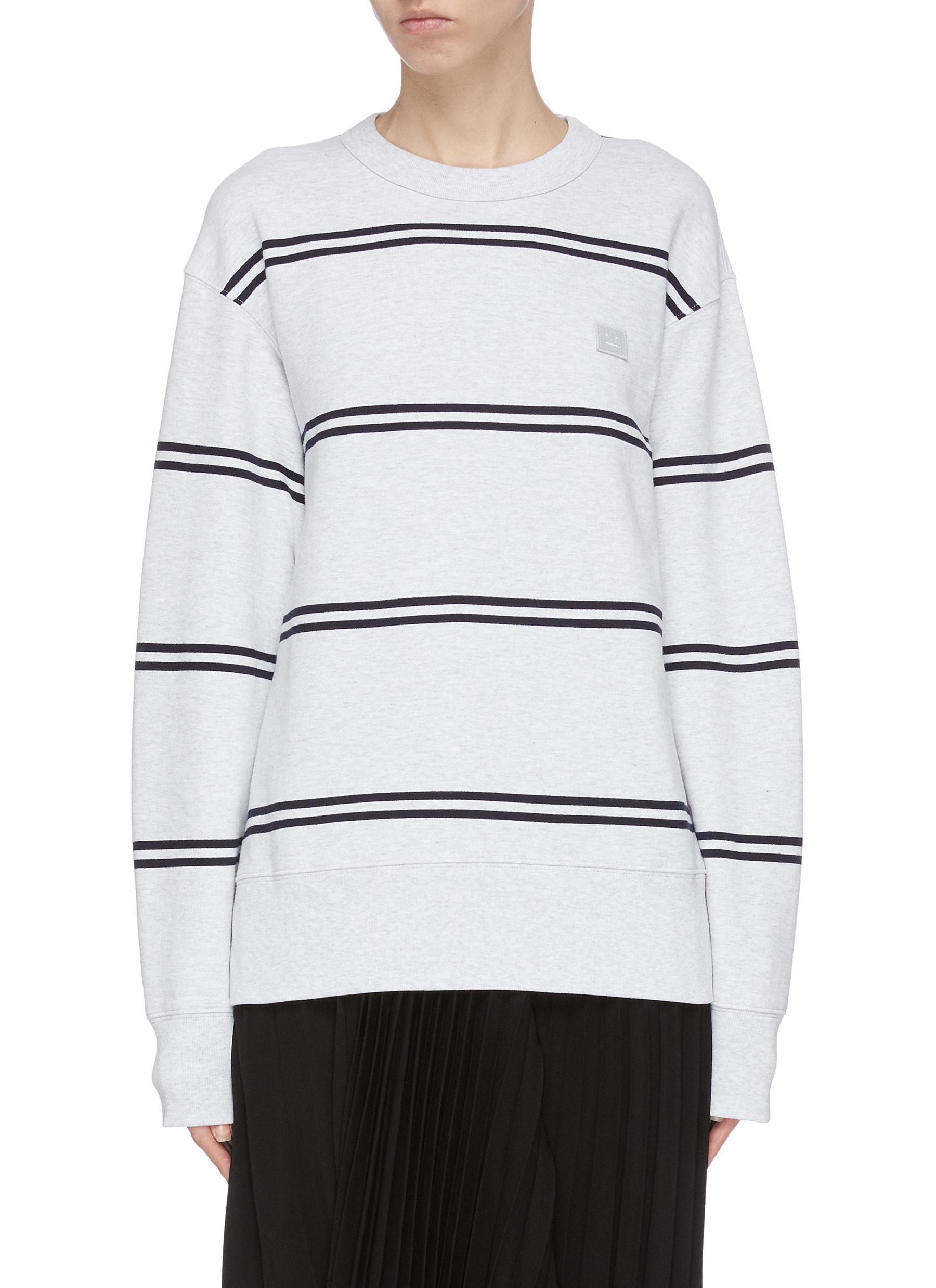 shop Acne Studios Stripe face patch sweater online