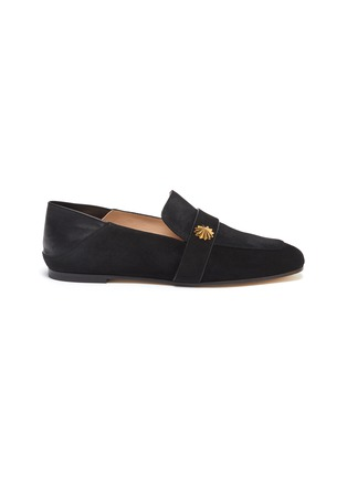 Main View - Click To Enlarge - STUART WEITZMAN - Wylie' collapsible counter suede loafers