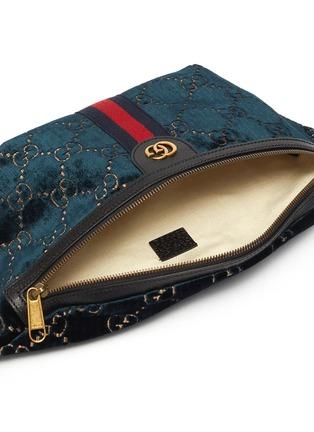 Detail View - Click To Enlarge - GUCCI - 'GG' Velvet belt bag