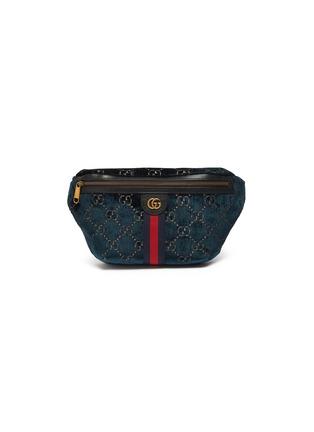 Main View - Click To Enlarge - GUCCI - 'GG' Velvet belt bag