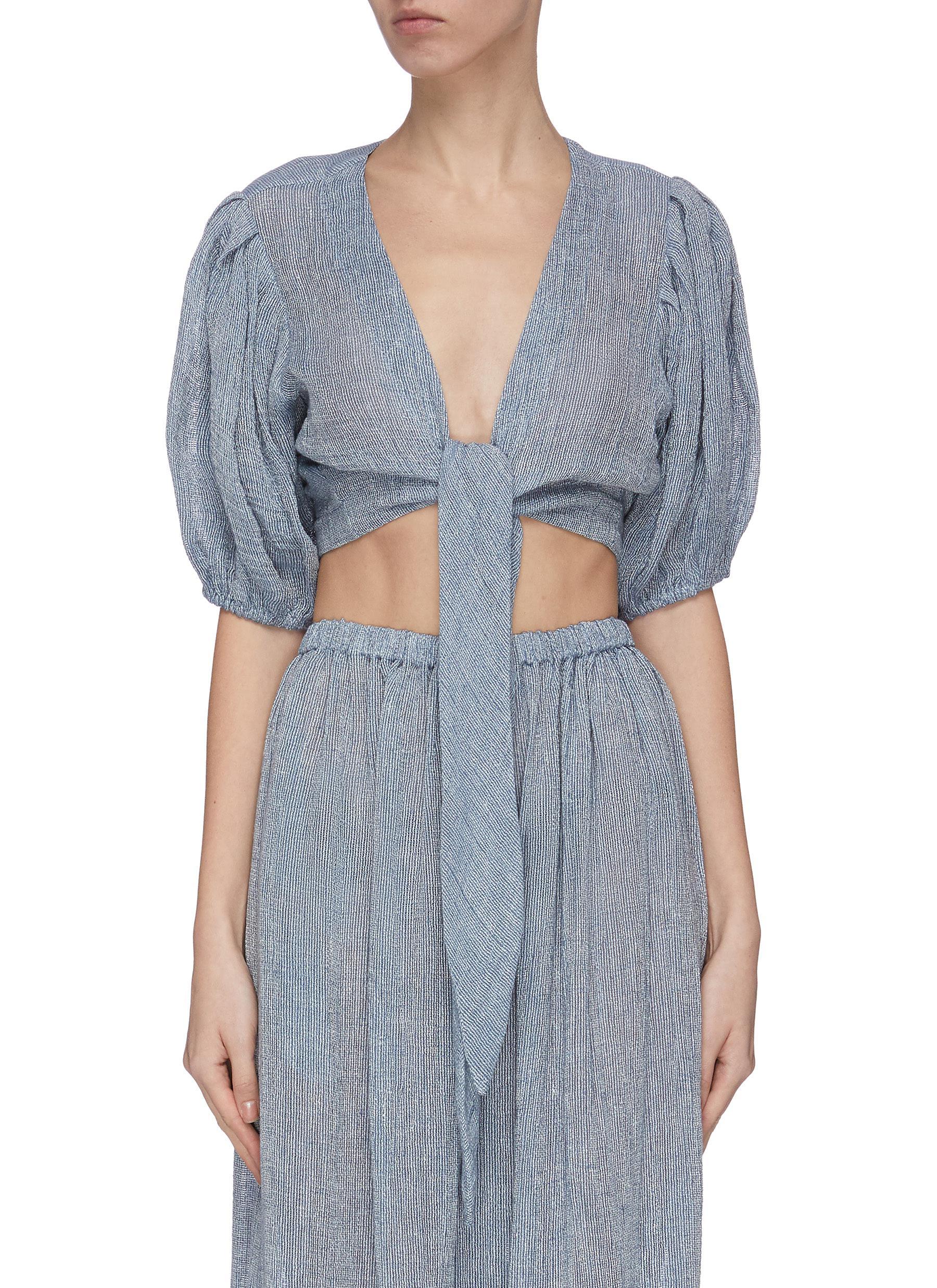 Buy Lisa Marie Fernandez Swimwear 'Pouf' tie blouse