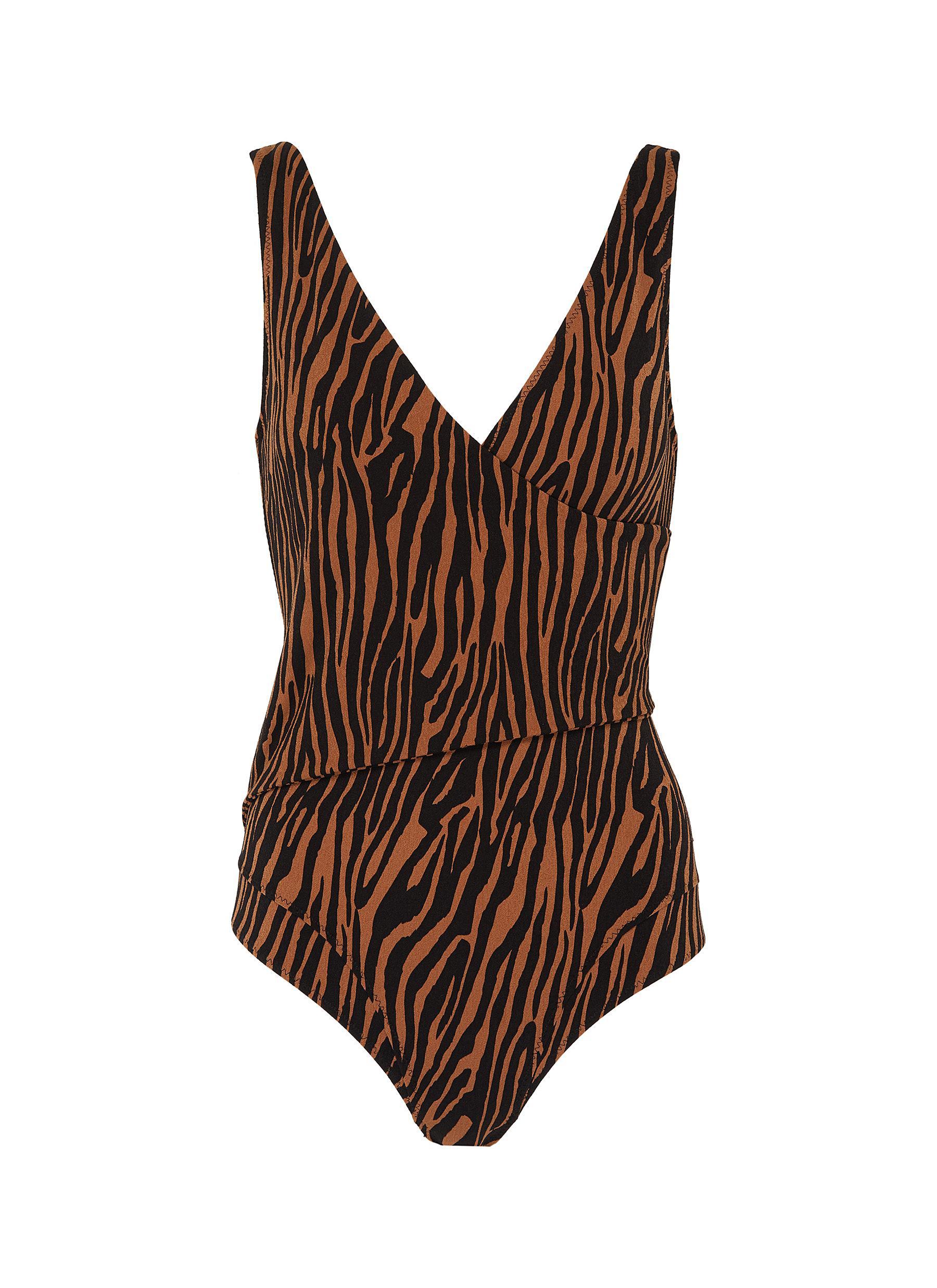 shop Lisa Marie Fernandez 'Dree Louise' tiger print swimsuit online