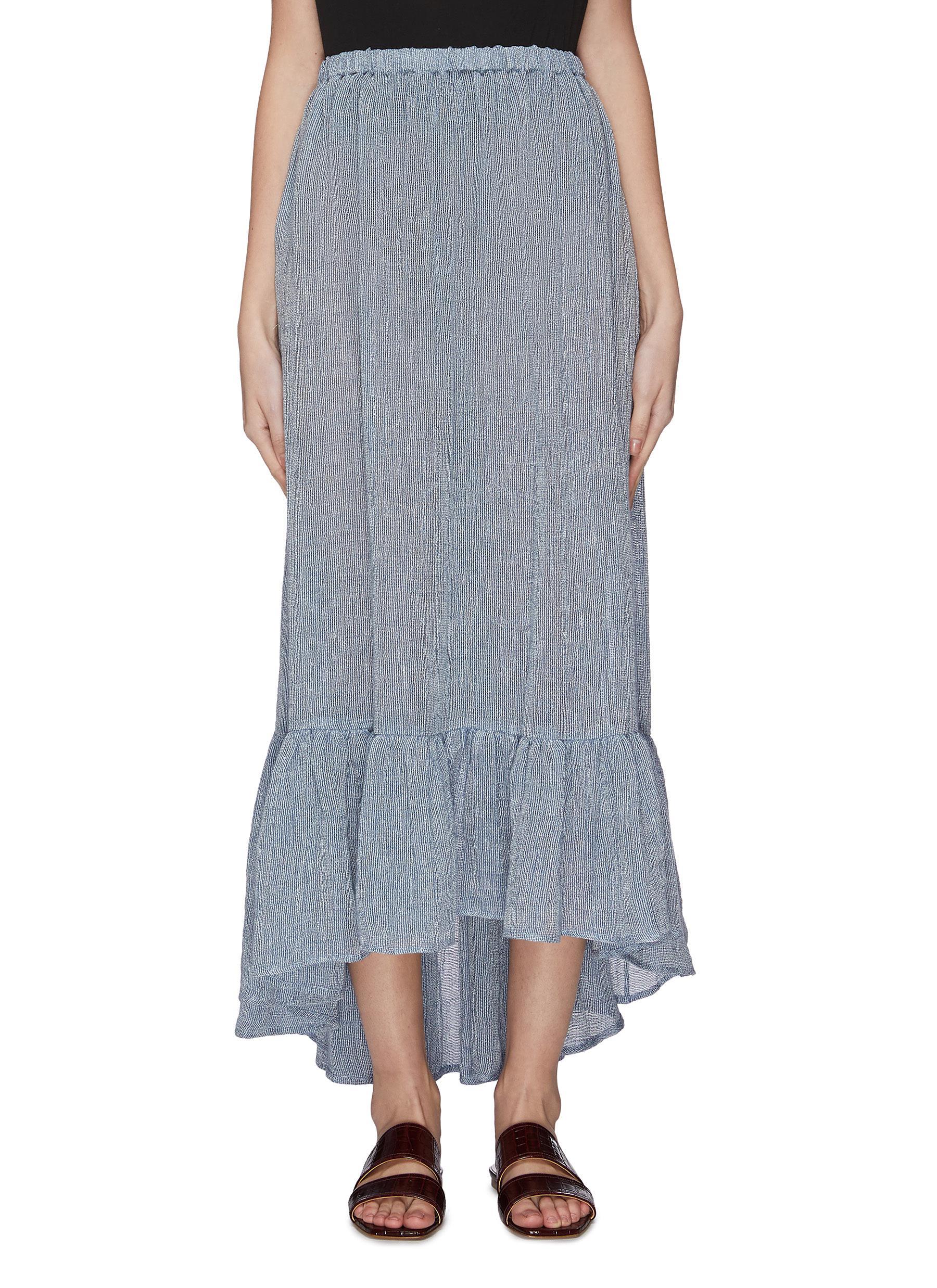 shop Lisa Marie Fernandez 'Nicole' ruffle long skirt online