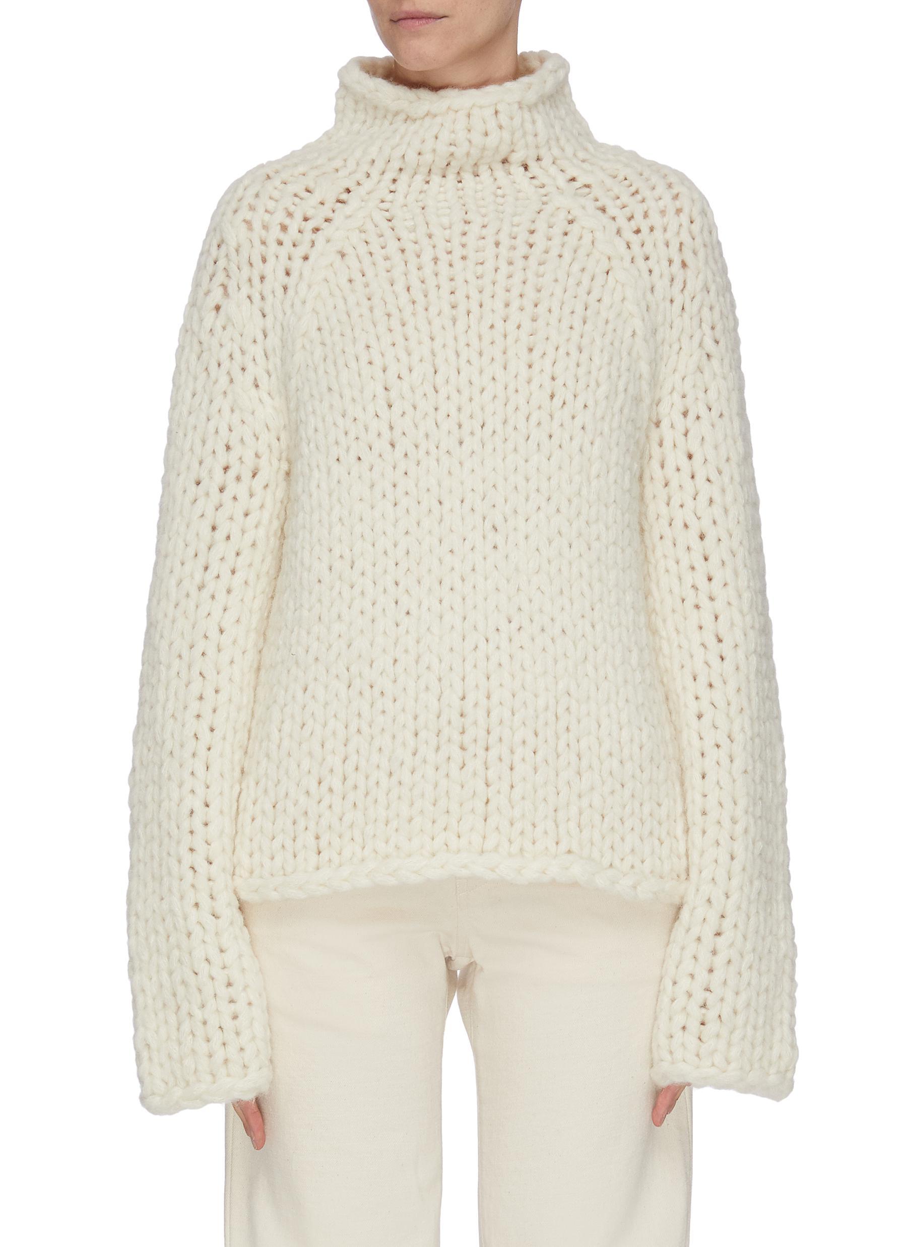 shop Vince Chunky mock neck alpaca blend sweater online
