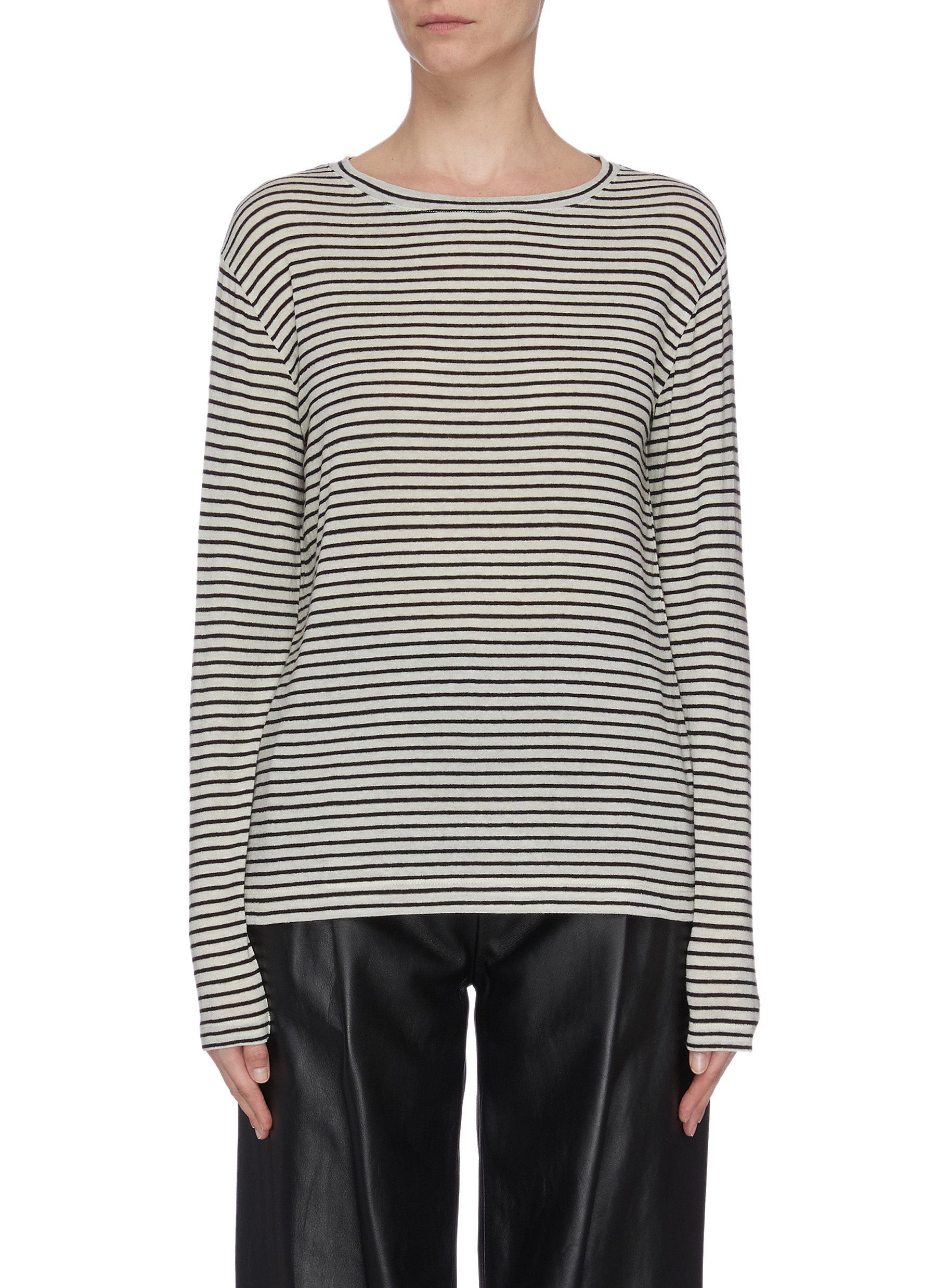 shop Vince Pencil stripe drop shoulder top online