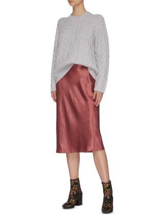 Figure View - Click To Enlarge - VINCE - Satin slip skirt
