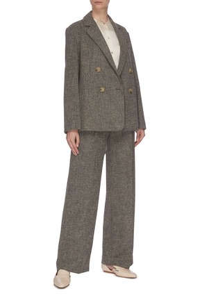 Figure View - Click To Enlarge - VINCE - 'Pebble' double breasted blazer