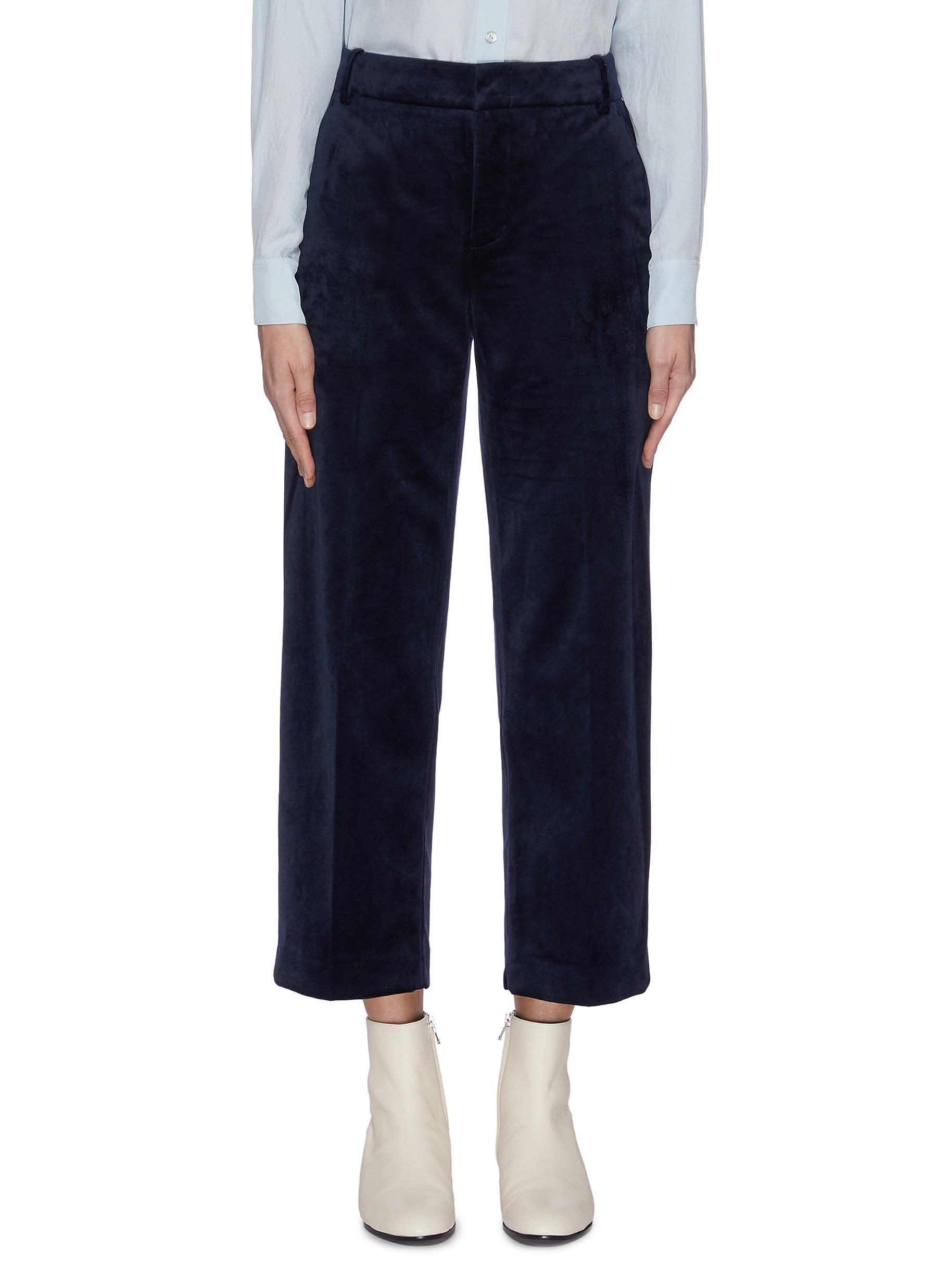 shop Vince Velvet cropped pants online