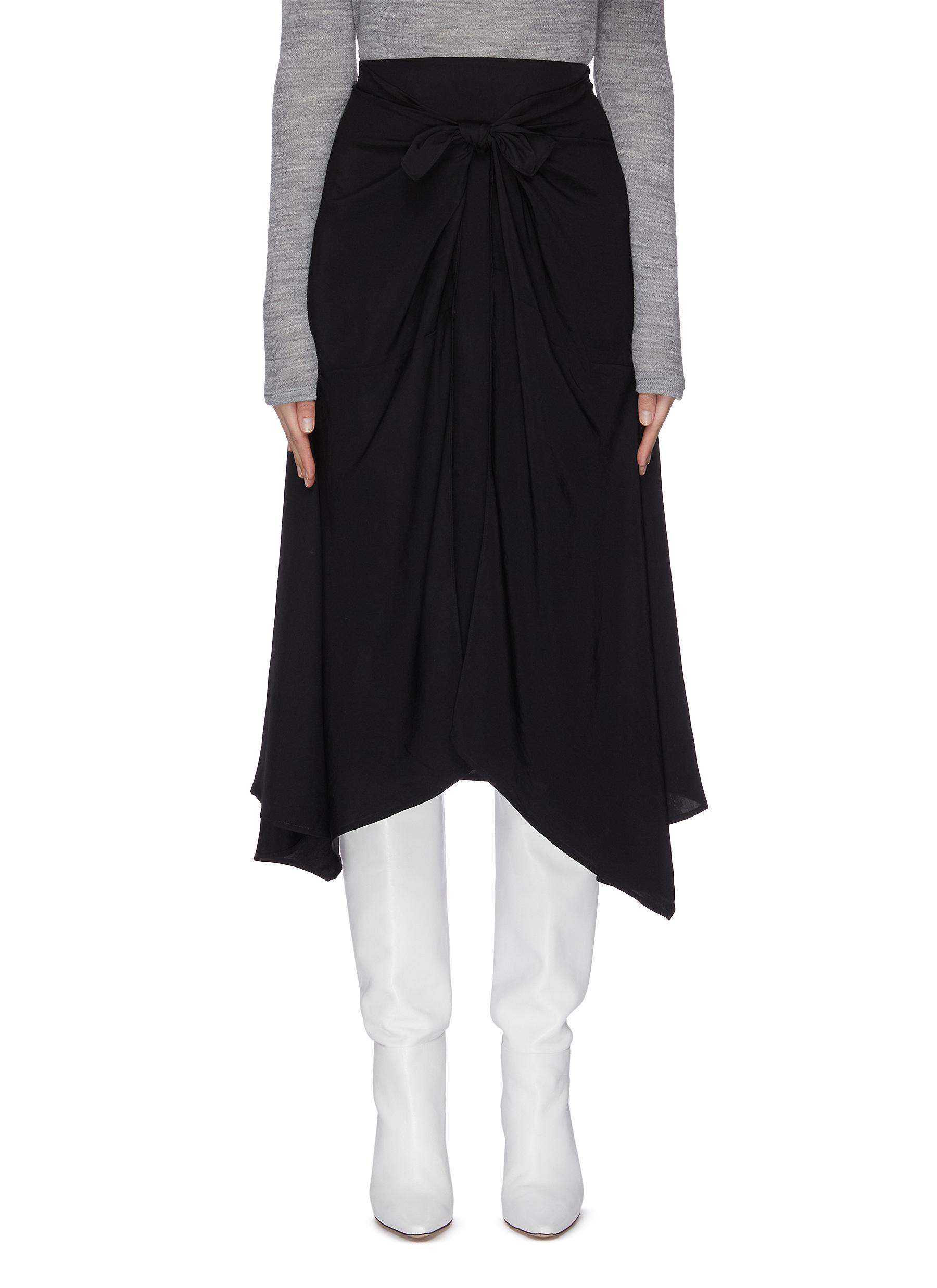 Buy Vince Skirts Tie front asymmetrical skirt