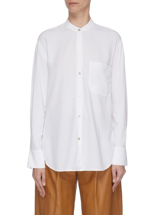 Main View - Click To Enlarge - VINCE - Pleated shoulder blouse