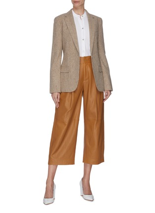 Figure View - Click To Enlarge - VINCE - Pleated shoulder blouse