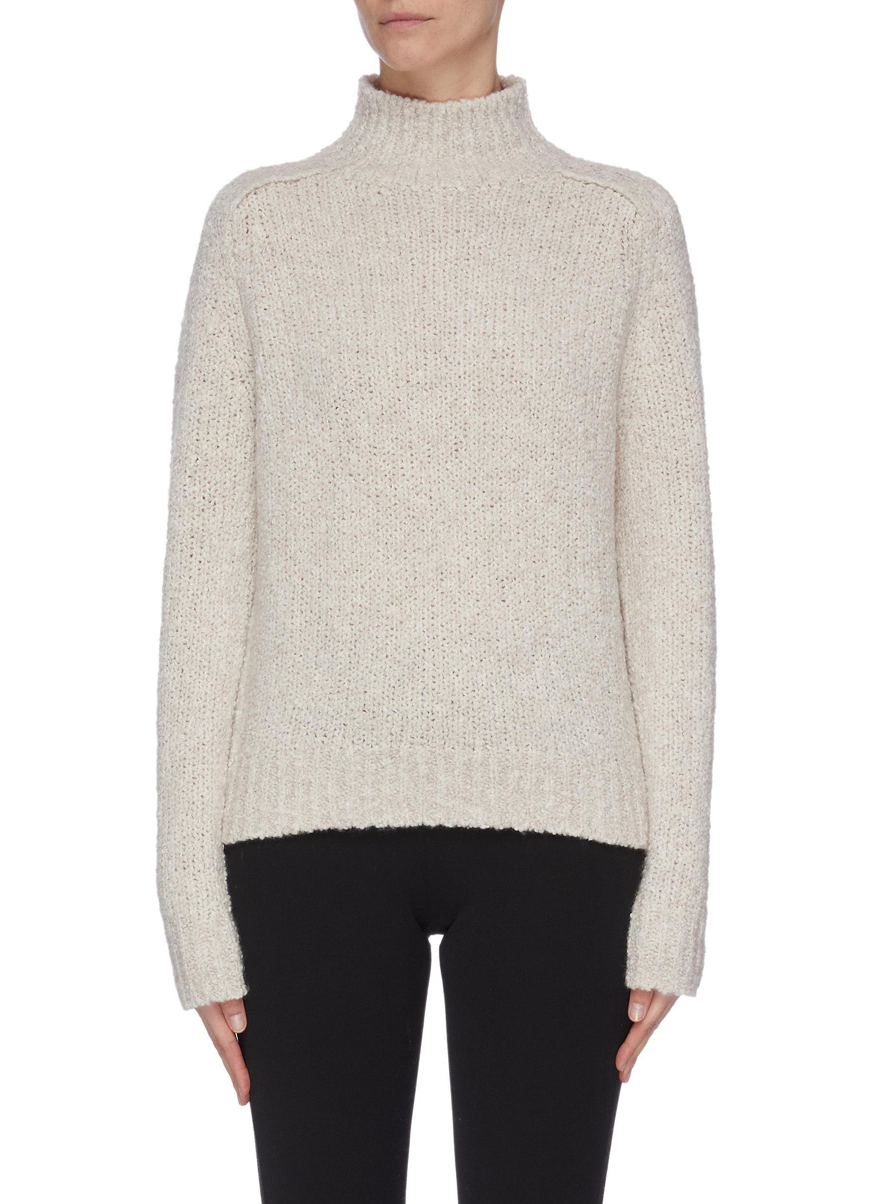 shop Vince 'Saddle' wool blend turtleneck sweater online