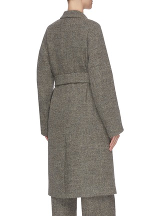 Back View - Click To Enlarge - VINCE - 'Pebble' double breasted belted coat