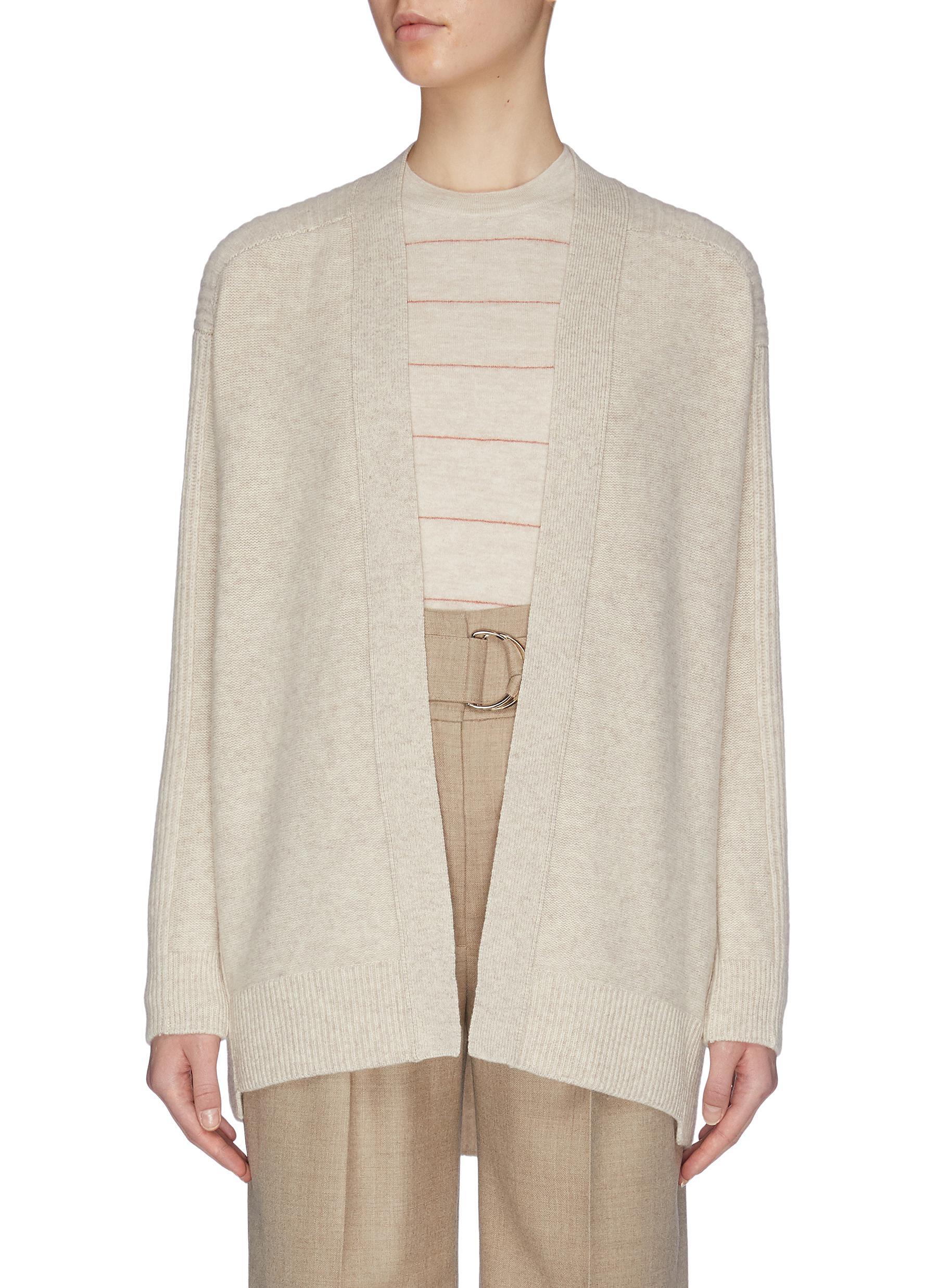 shop Vince Ribbed back wool cashmere cardigan online