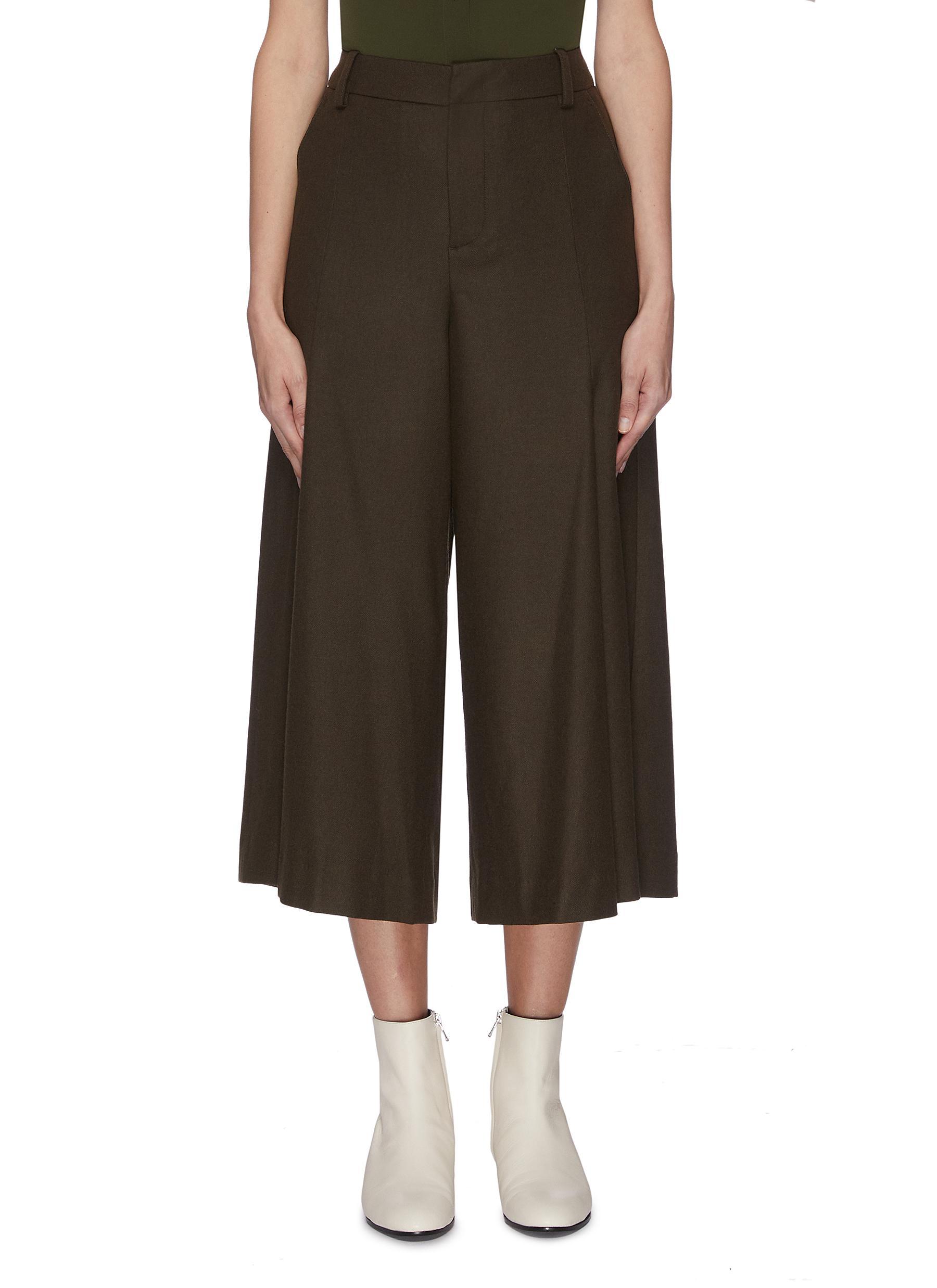 shop Vince Pleat front flannel culotte online