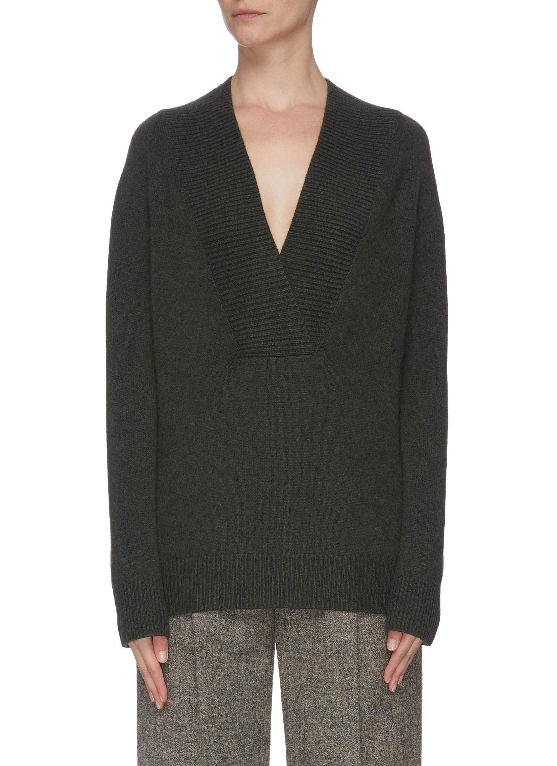 Buy Vince Knitwear Shawl collar cashmere wool blend sweater