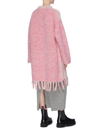 Back View - Click To Enlarge - SHORT SENTENCE - Colourblock sleeve tassel hem oversized sweater