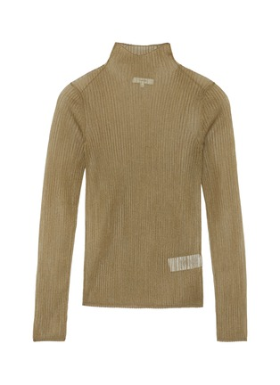 Main View - Click To Enlarge - VINCE - Metallic ribbed mock neck