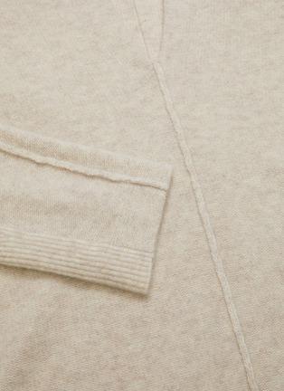 - VINCE - Split neck cashmere wool blend felt sweater