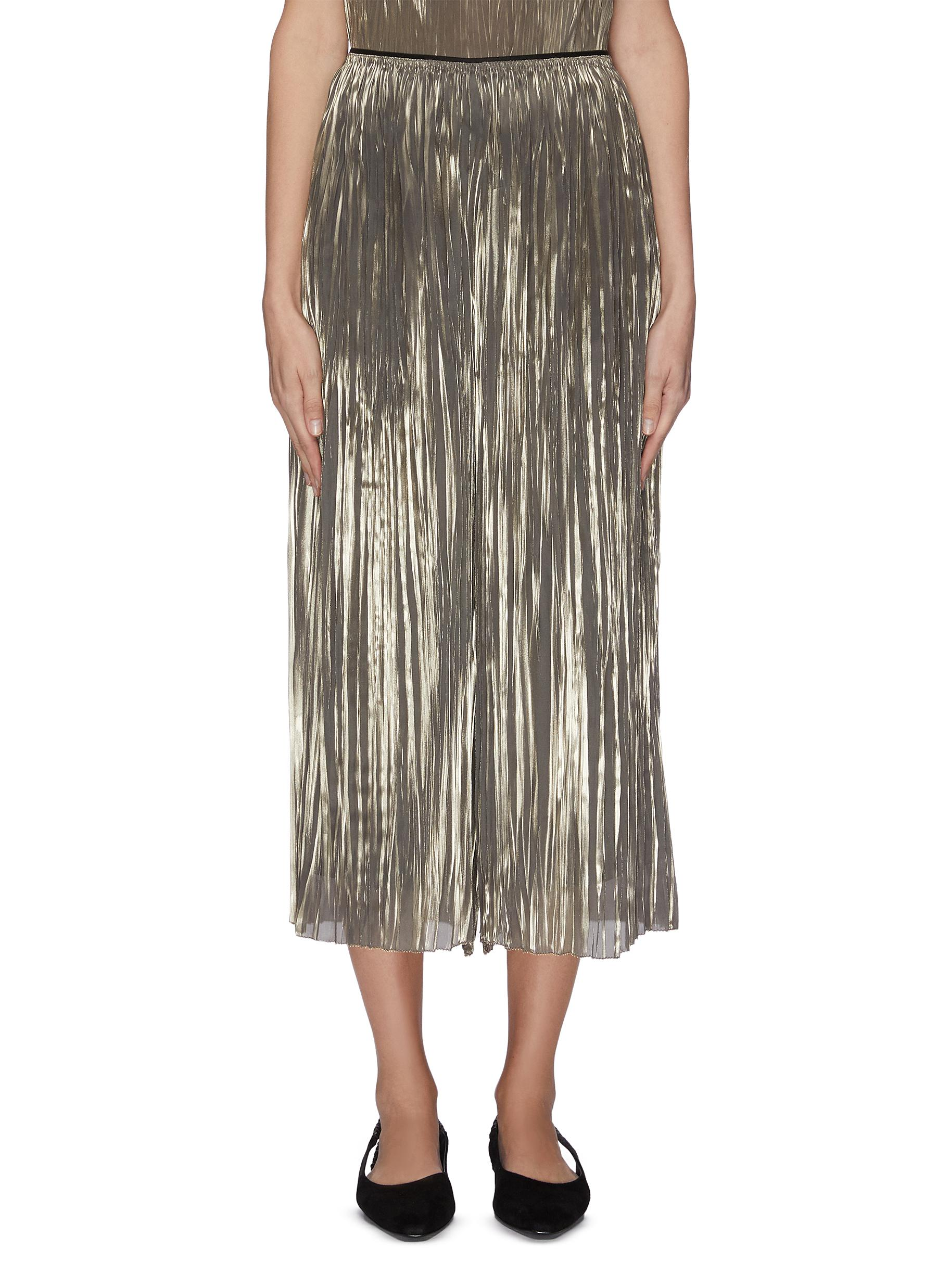 shop Vince Iridescent pleated culotte online