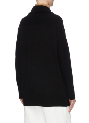 Back View - Click To Enlarge - VINCE - Drape front belted cardigan