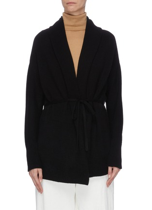 Main View - Click To Enlarge - VINCE - Drape front belted cardigan
