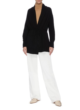 Figure View - Click To Enlarge - VINCE - Drape front belted cardigan