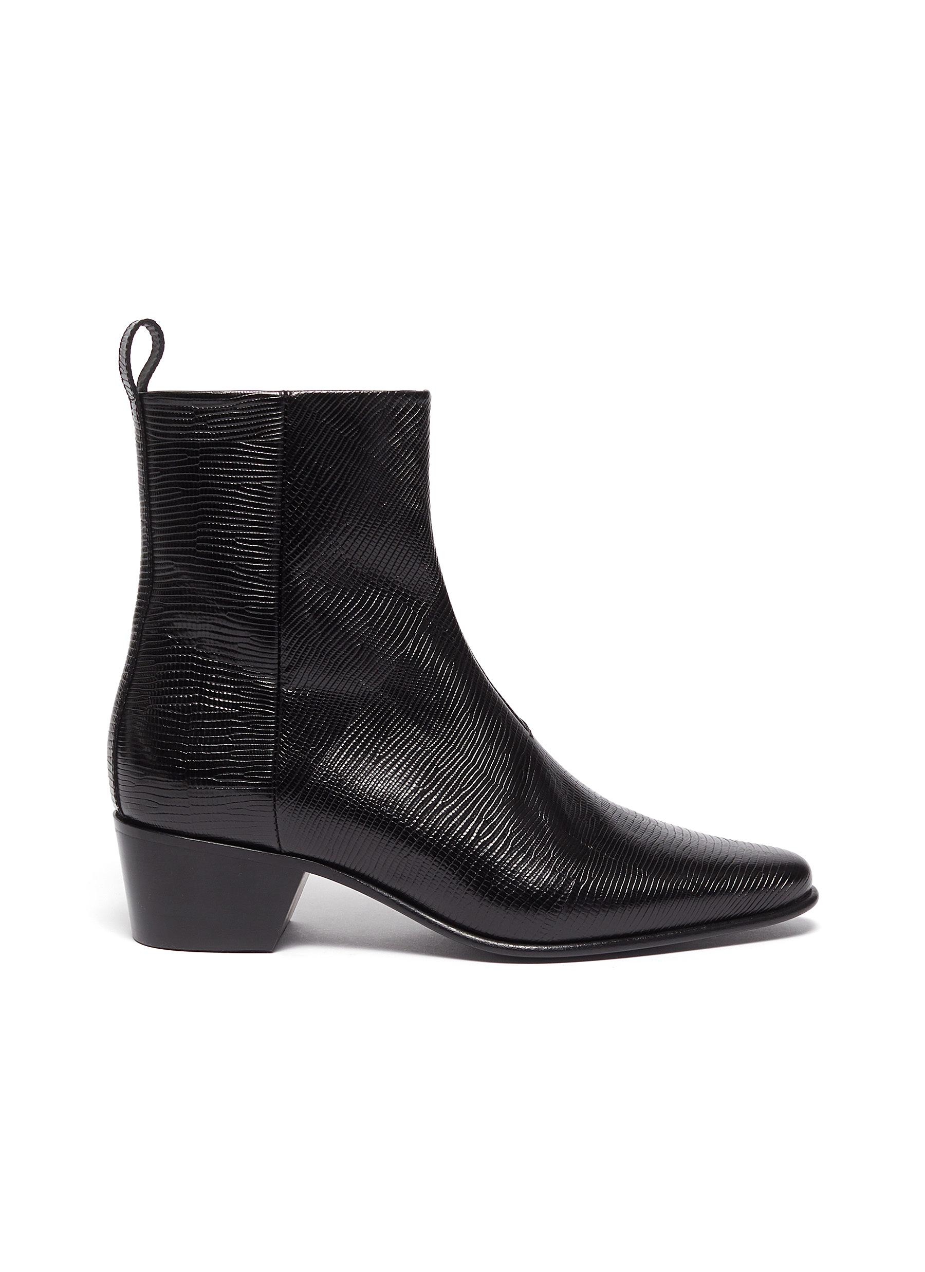 Pierre Hardy Boots Reno calfskin leather ankle boots