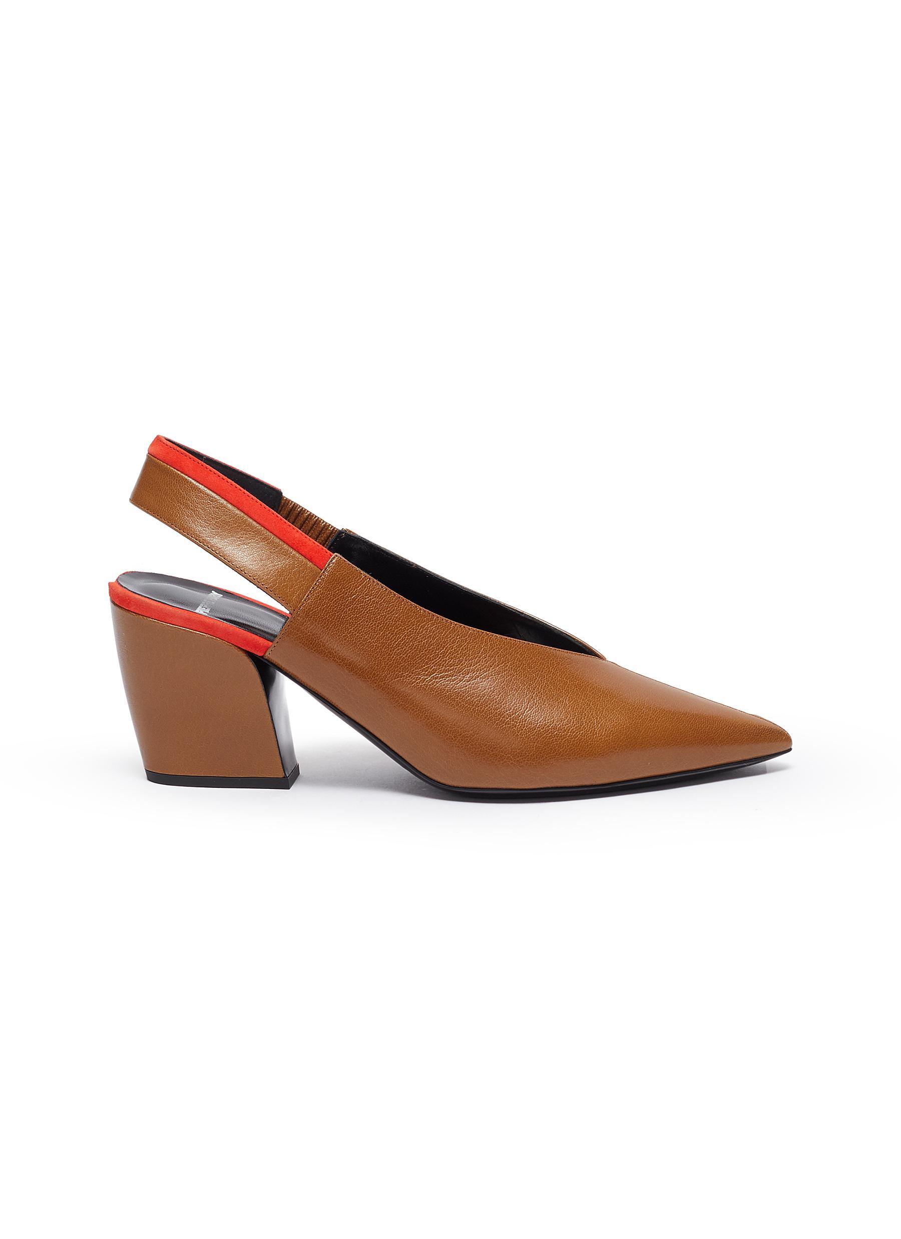Pierre Hardy Mid Heels Alpha slingback block heel shoes