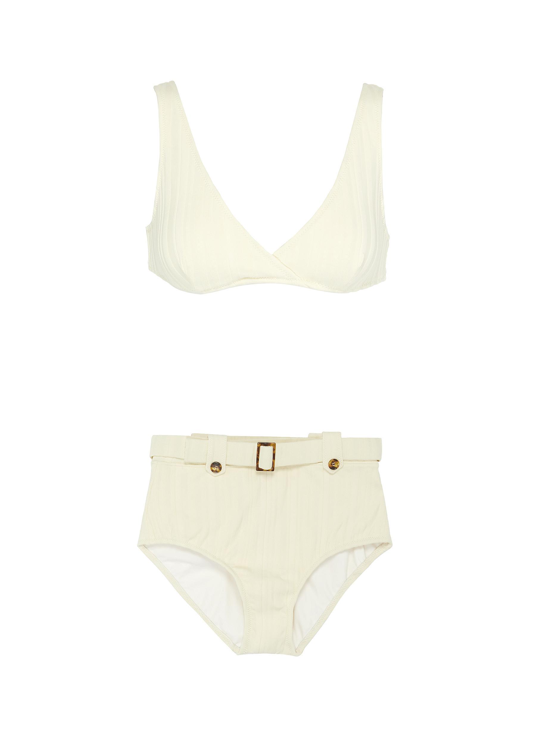Buy Solid & Striped Swimwear 'The Annie' ribbed bikini top