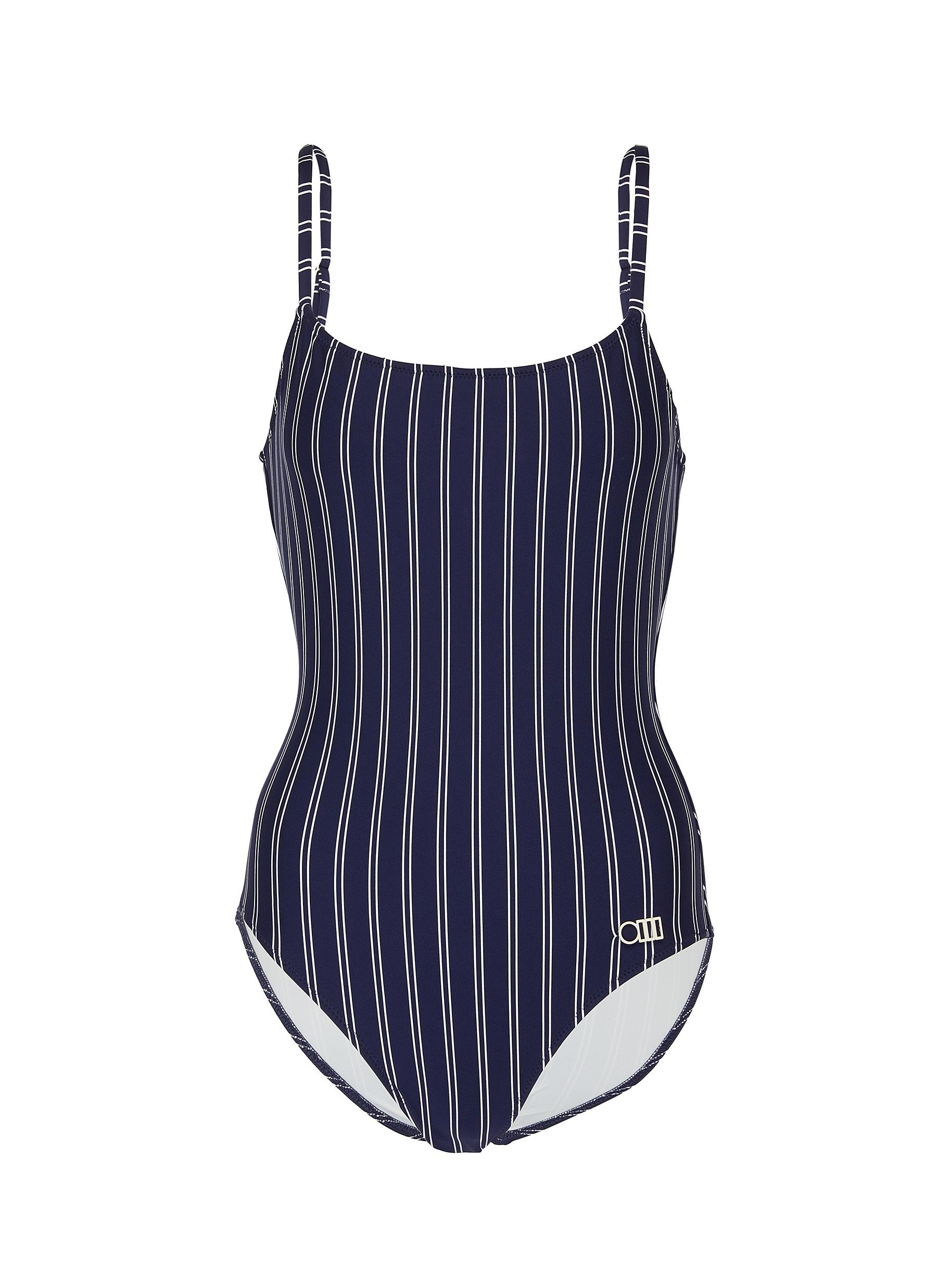 shop Solid & Striped 'The Nina' pin stripe one-piece swimsuit online