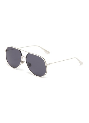 Main View - Click To Enlarge - DIOR - 'Dior by Dior' metal frame aviator sunglasses