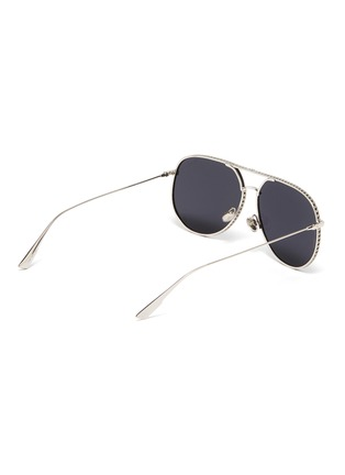 Figure View - Click To Enlarge - DIOR - 'Dior by Dior' metal frame aviator sunglasses