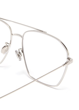 Detail View - Click To Enlarge - DIOR - 'DiorStellaire O14F' metal frame aviator optical glasses