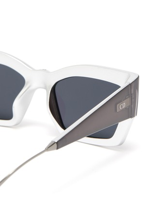 Detail View - Click To Enlarge - DIOR - 'Dior2' oversized cat eye acetate frame sunglasses