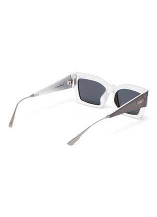 Figure View - Click To Enlarge - DIOR - 'Dior2' oversized cat eye acetate frame sunglasses