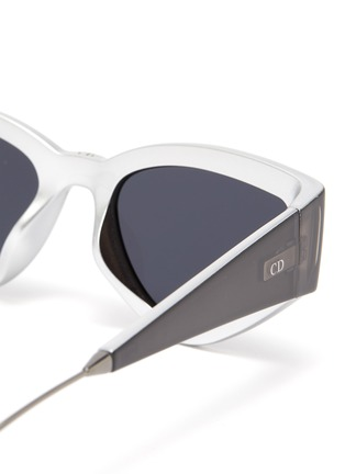 Detail View - Click To Enlarge - DIOR - 'Dior1' oversized cat eye acetate frame sunglasses