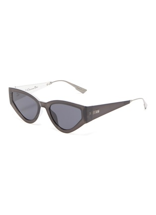 Main View - Click To Enlarge - DIOR - 'Dior1' oversized cat eye acetate frame sunglasses