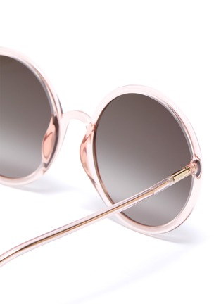 Detail View - Click To Enlarge - DIOR - 'Diorsostellaire3' acetate frame oversized round gradient sunglasses