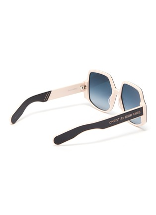 Figure View - Click To Enlarge - DIOR - 'DiorInsideOut1' acetate frame oversized square sunglasses