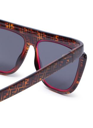 Detail View - Click To Enlarge - FENDI - Acetate frame monogram contrast rim cat eye sunglasses