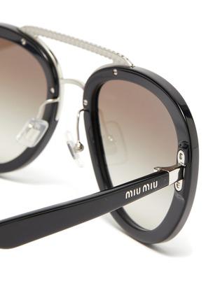Detail View - Click To Enlarge - MIU MIU - Embellished bridge acetate frame sunglasses