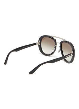 Figure View - Click To Enlarge - MIU MIU - Embellished bridge acetate frame sunglasses