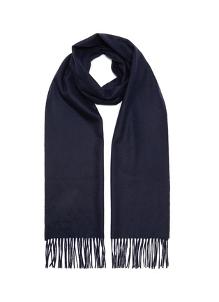 Main View - Click To Enlarge - JOHNSTONS OF ELGIN - Fringed cashmere scarf