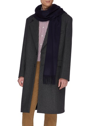 Figure View - Click To Enlarge - JOHNSTONS OF ELGIN - Fringed cashmere scarf