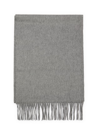 Detail View - Click To Enlarge - JOHNSTONS OF ELGIN - Fringed cashmere scarf