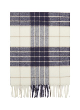 Detail View - Click To Enlarge - JOHNSTONS OF ELGIN - Tartan plaid fringed cashmere scarf